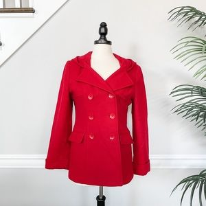 True Red East 5th Wool Pea Coat